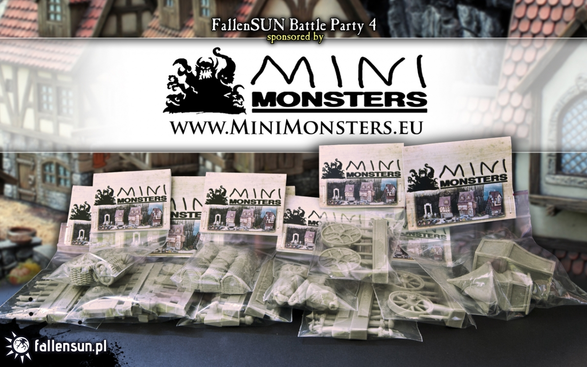 Tournament - Warhammer - Chaos Wastes Battle Party - 6th edition - Zduńska Wola - turniej  - Sponsors - Mini Monsters