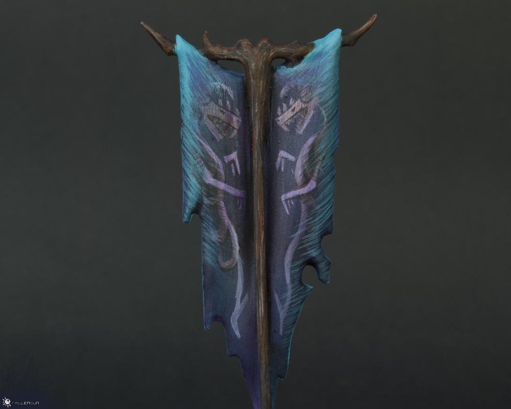 Witch Elf Banner - Fallensun - Warhammer - T9a