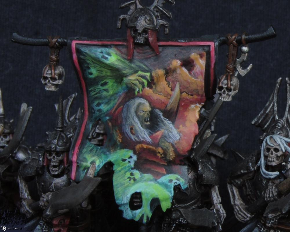Grave Guard Banner - Fallensun - Warhammer - T9a
