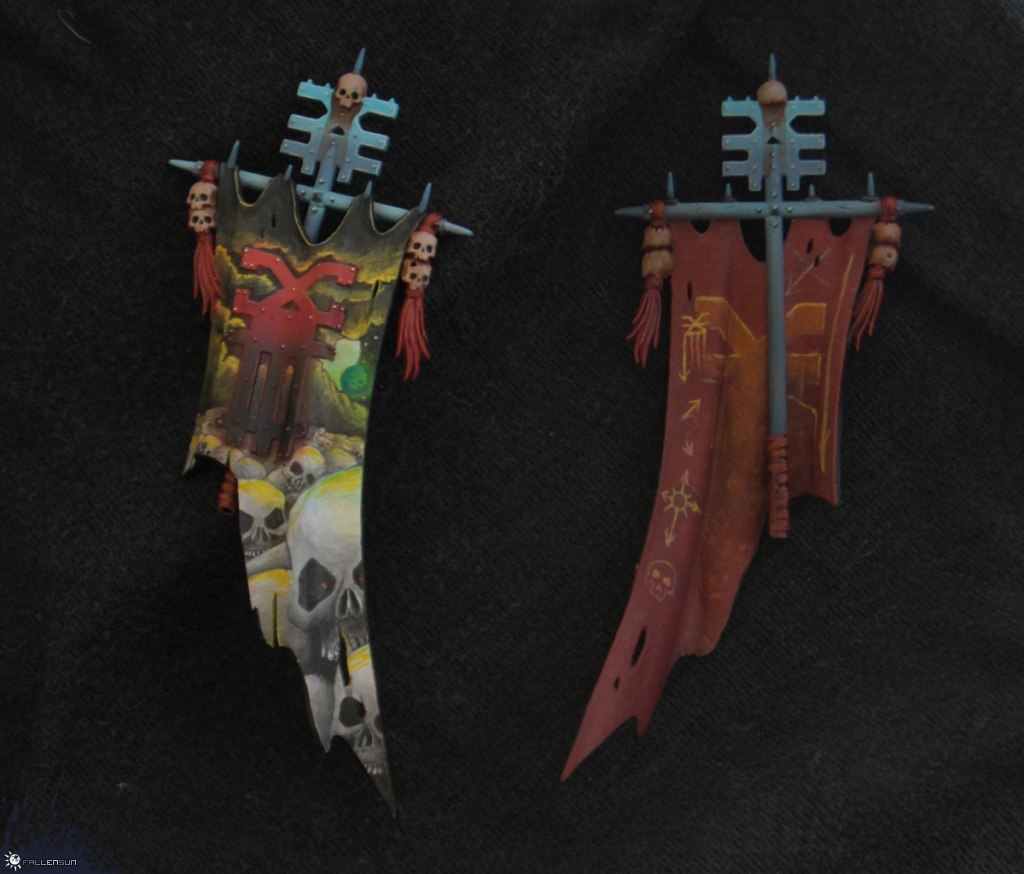 Skullbanner for Bloodletters - Fallensun - Warhammer - T9a